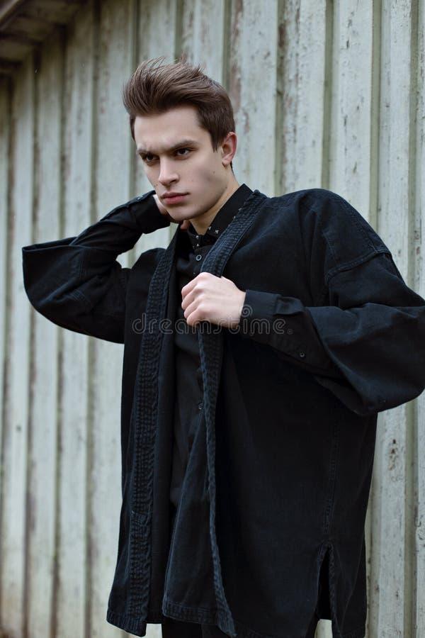 Boy in Black royalty free stock photo