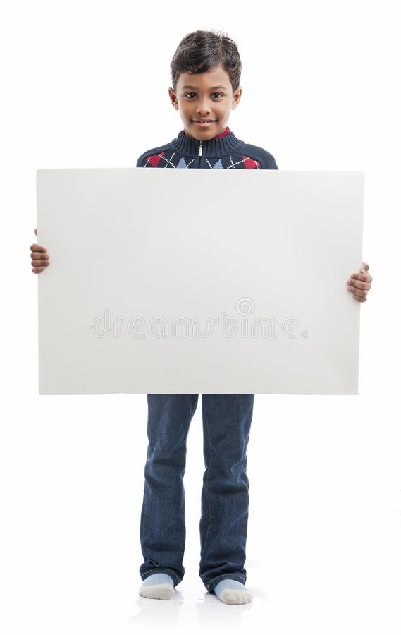 Download Boy With Blank Board stock image. Image of children, advertisement - 23623257