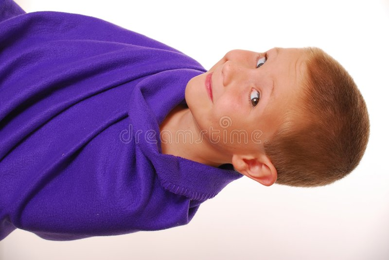 Download Boy In A Blanket 4 stock image. Image of smart, handsome - 894183