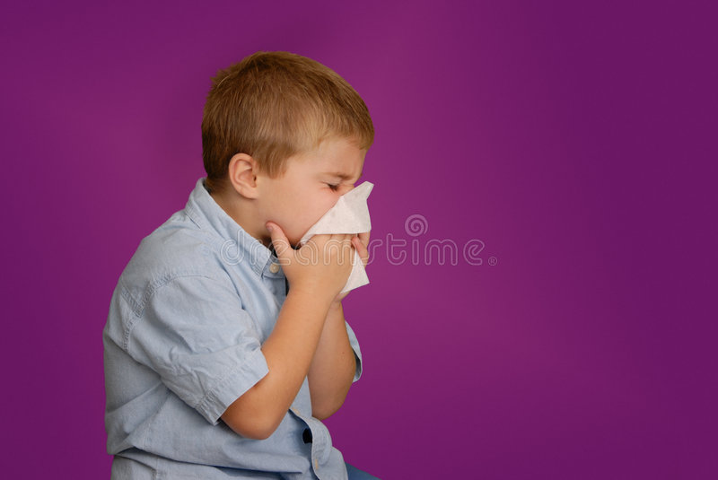 Download Boy Blowing Nose stock photo. Image of tissue, blowing - 1763228