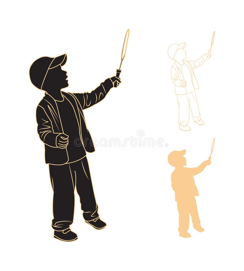 Silhouette of a child stock vector  Illustration of profile - 46499969