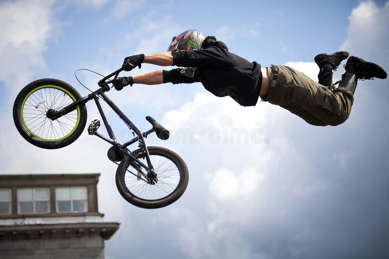 Download Boy On A Bmx/mountain Bike Jumping Editorial Photography - Image: 20007257