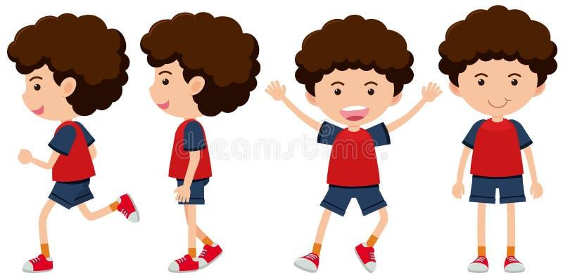 A Boy and Body Movement. Illustration royalty free illustration