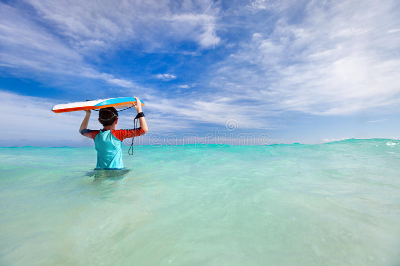 Download Boy with boogie board stock image. Image of bodyboard - 37889341