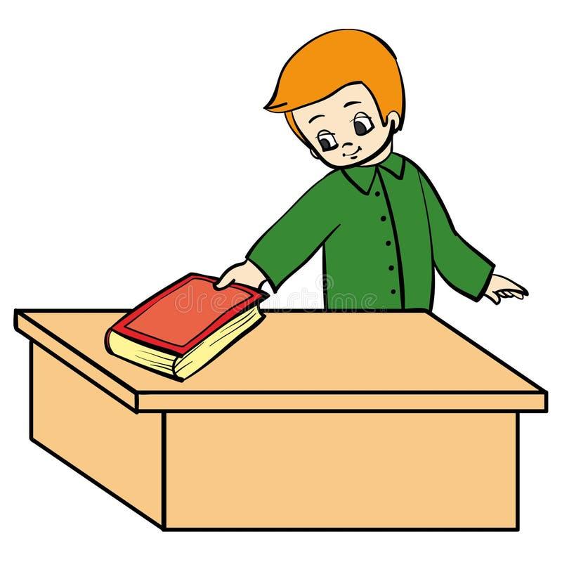 Download Boy book stock vector. Image of person, idea, education - 13431190