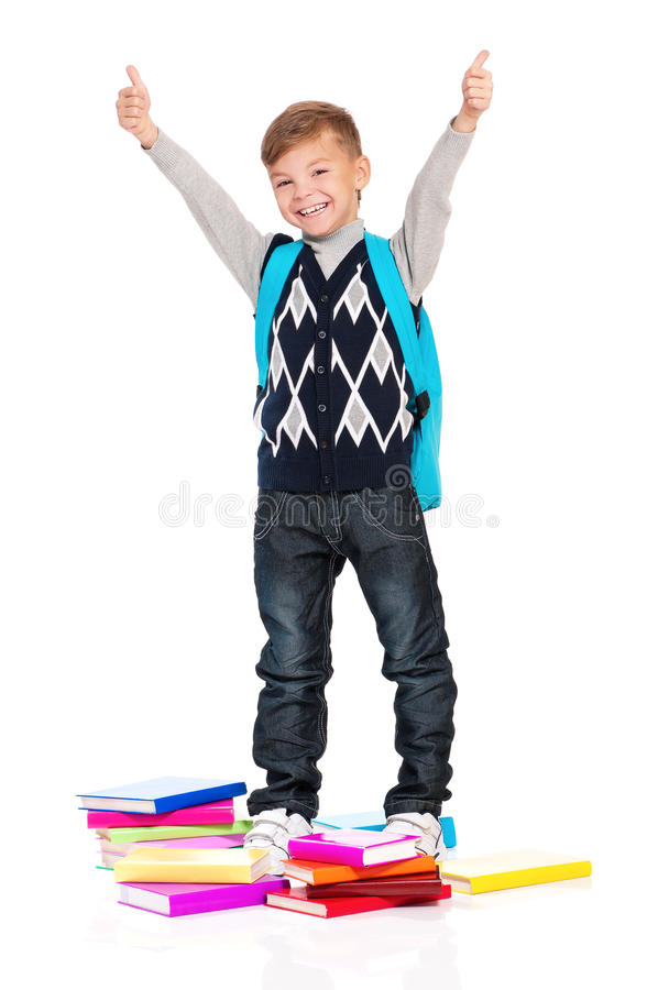Download Boy With Books Stock Image - Image: 28930701