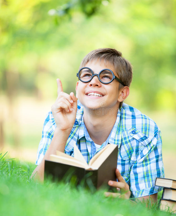 Download Boy with books stock photo. Image of lifestyle, elementary - 33684960