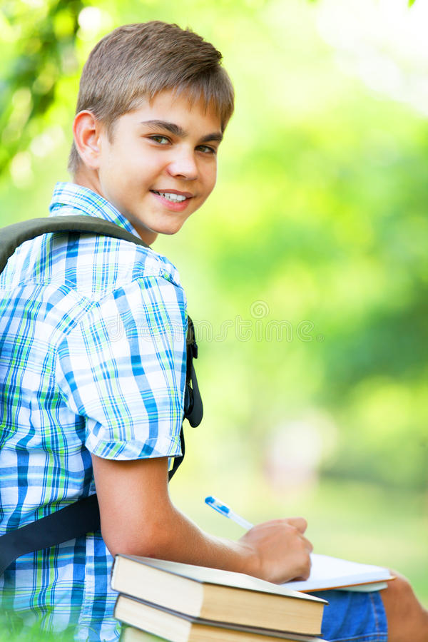 Download Boy With Books Stock Photo - Image: 33684970