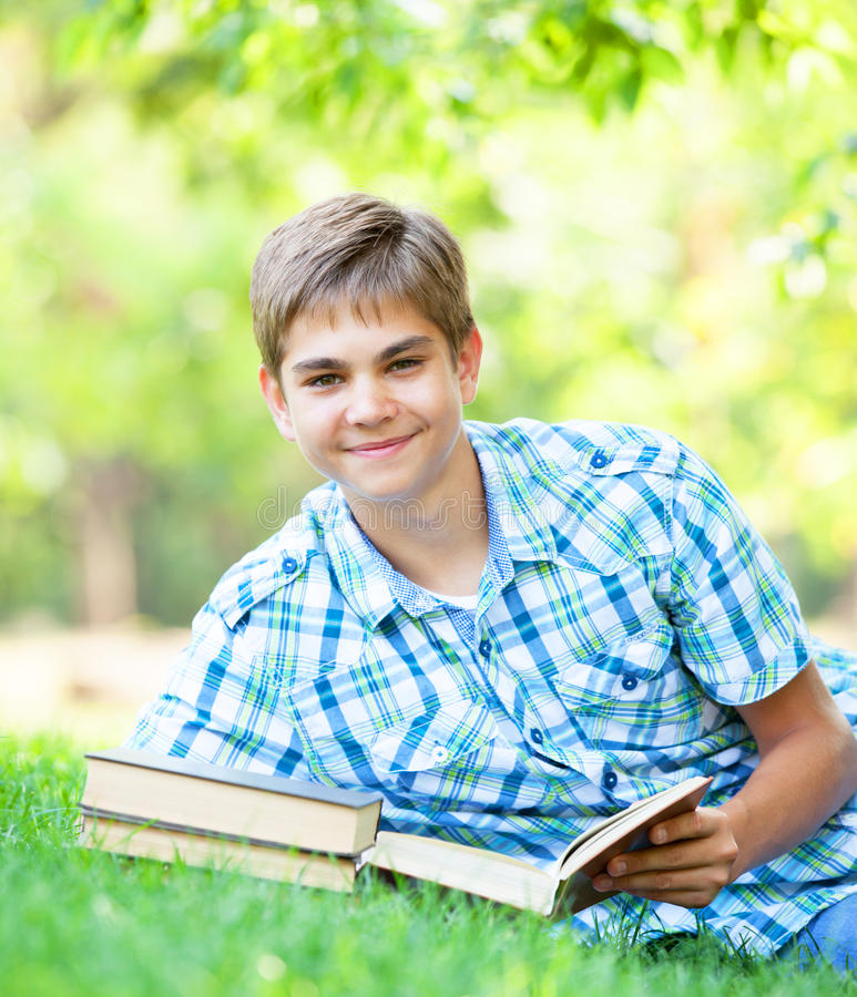 Download Boy with books stock photo. Image of learn, knowledge - 33685008
