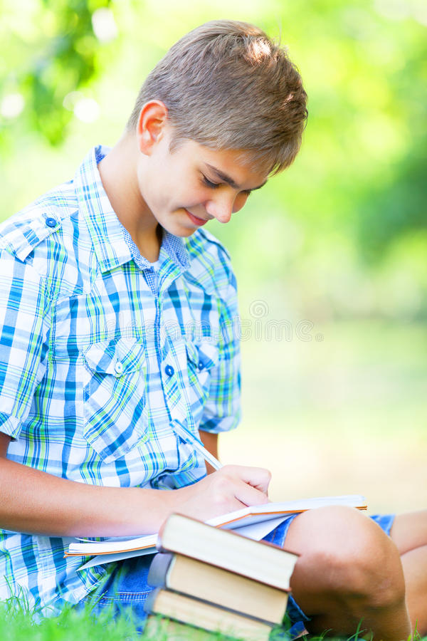 Download Boy with books stock image. Image of intelligent, lifestyle - 33685015