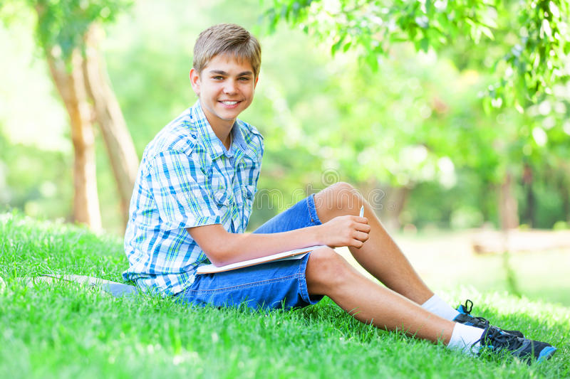 Download Boy With Books Stock Image - Image: 33685021