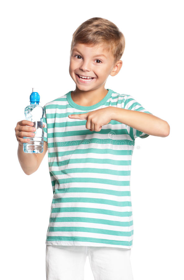 Download Boy With Bottle Of Water Stock Images - Image: 29315934