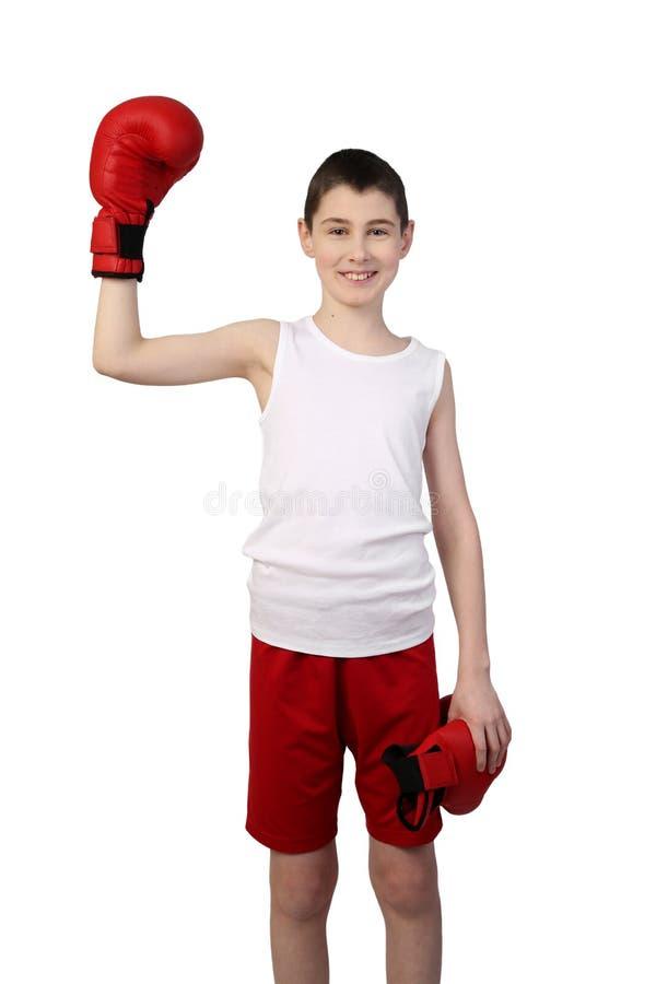 Boy boxer winner royalty free stock image