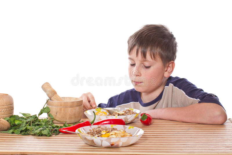 Download Boy breakfast stock image. Image of people, lunch, happy - 28767097
