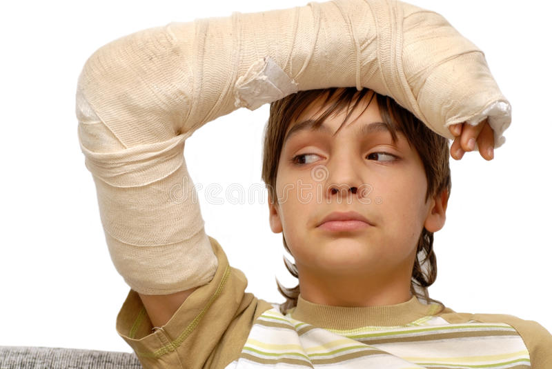 Download Boy With Broken Arm Stock Photography - Image: 22148612