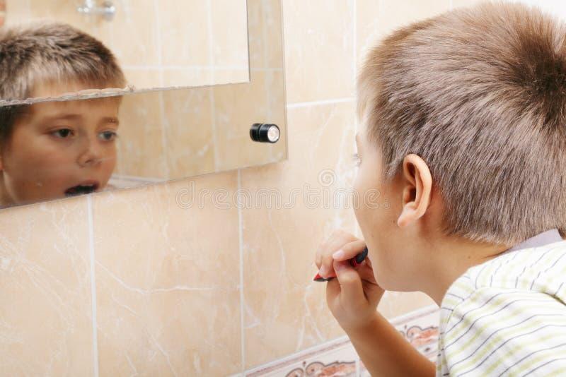 Download Boy Brushing Teeth Stock Images - Image: 17351444