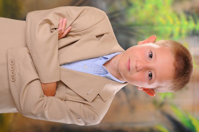 Download Boy Businessman stock photo. Image of male, children, serious - 8742854