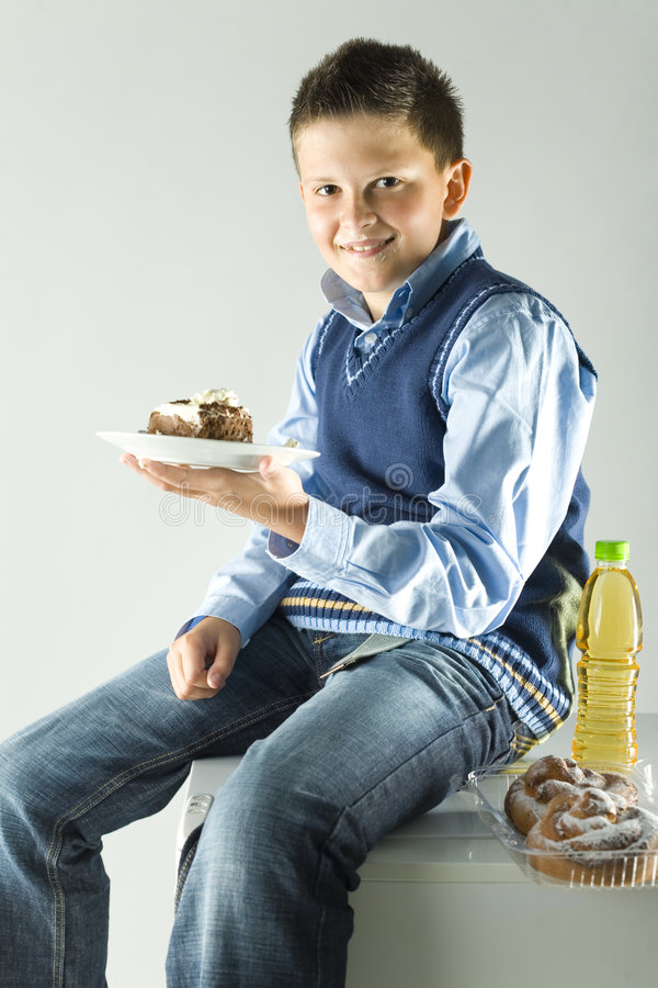 Download Boy with cake stock image. Image of person, keep, cake - 3302283