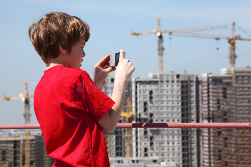 Download Boy With Camera Photo Construction Stock Photo - Image: 27108062