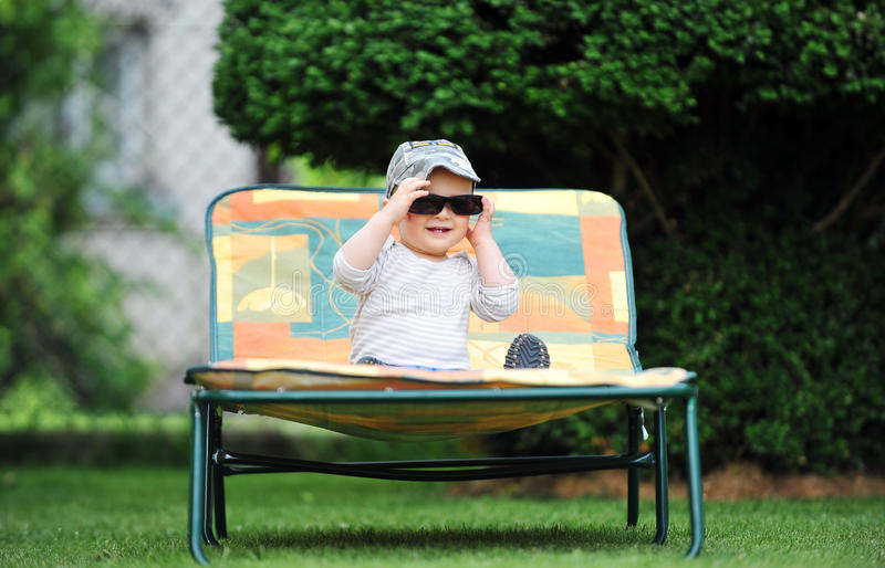 Download Boy in cap stock photo. Image of child, happiness, beautiful - 25898244