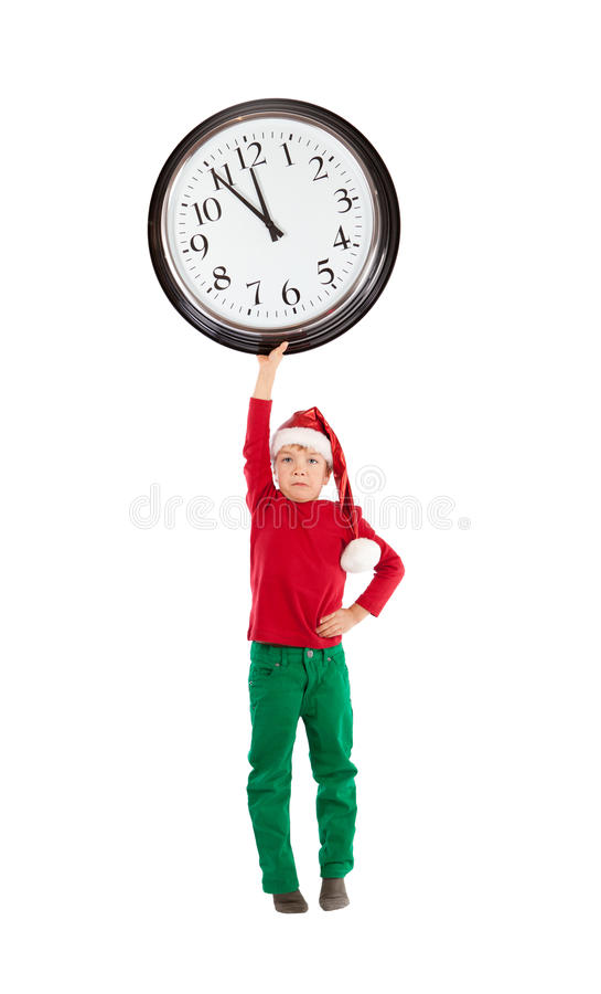 Download Boy in cap of Santa Claus stock image. Image of isolation - 27537471