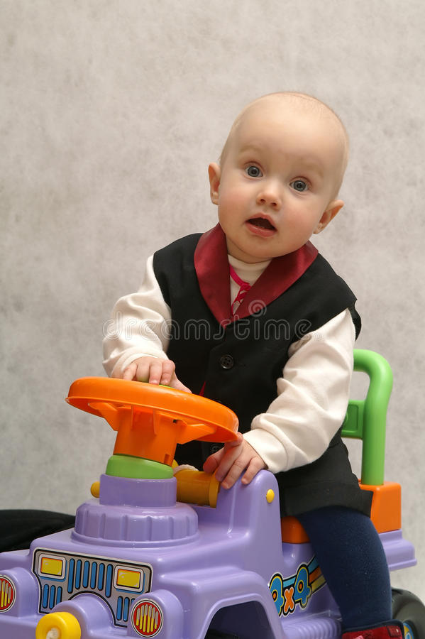 Download Boy with the car 1 stock photo. Image of playing, blue - 13013146