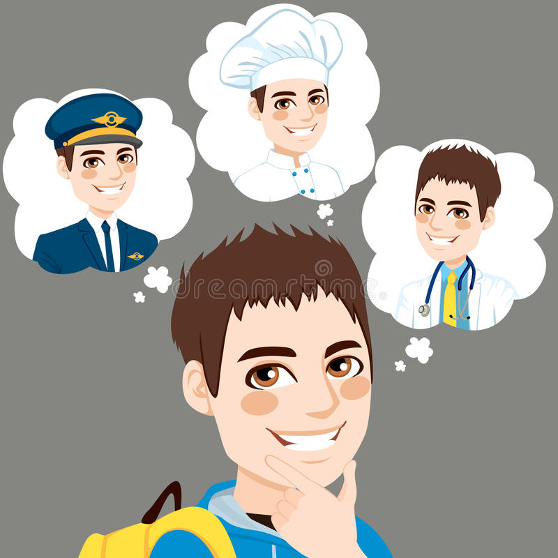 Boy Career Choice vector illustration