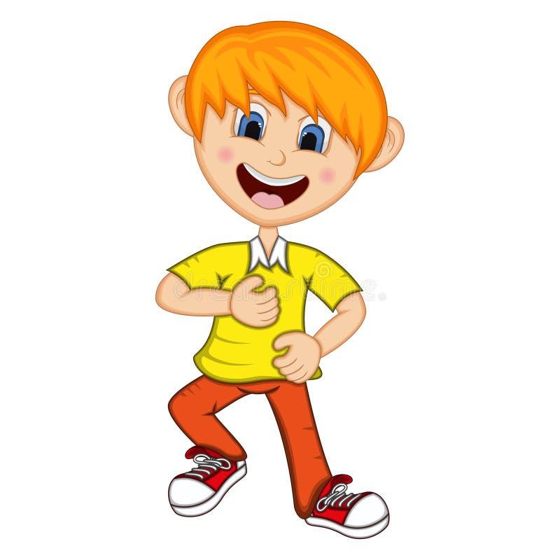 Download Boy Cartoon With Dancing Pose Stock Vector