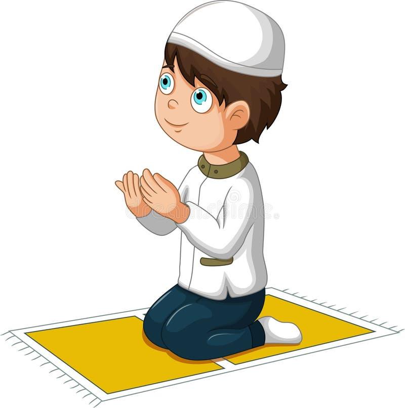 Boy cartoon praying. Illustration of boy cartoon praying stock illustration