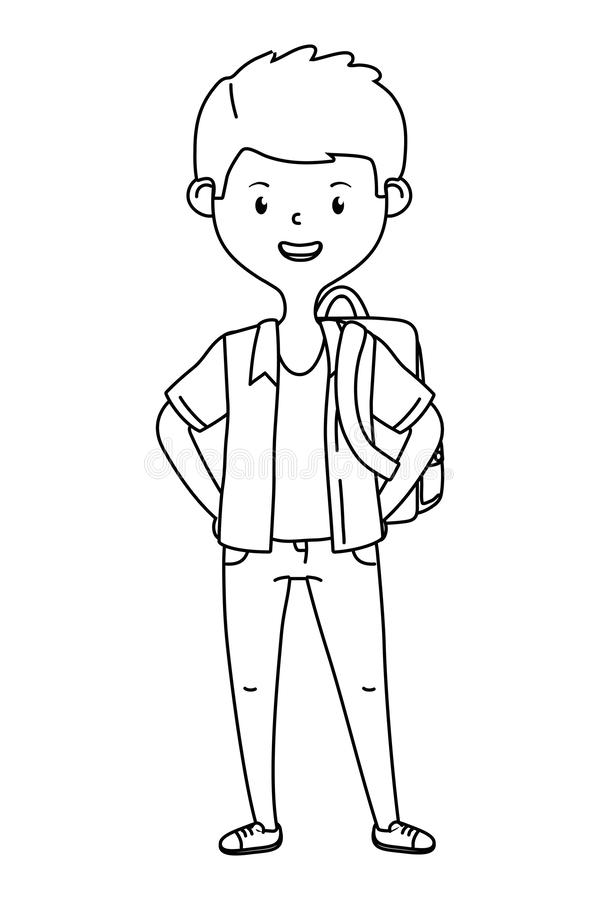 Boy cartoon of school design vector illustration