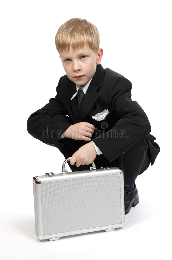 Download Boy With A Case. Stock Photography - Image: 1419542