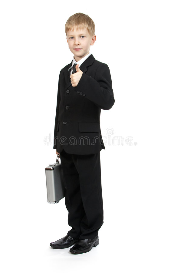 Download Boy with a case. stock image. Image of schoolboy, coat - 1419551