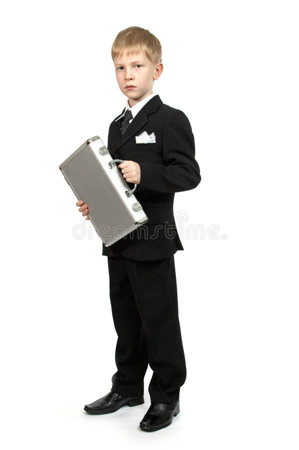 Download Boy With A Case. Stock Photography - Image: 1419672