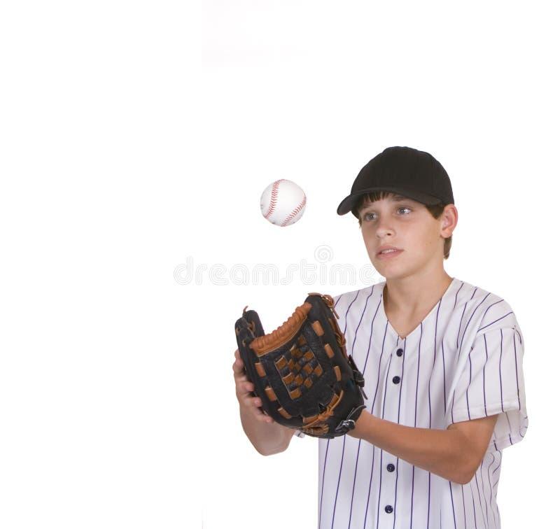 Download Boy catching baseball stock image. Image of little, skill - 10804683