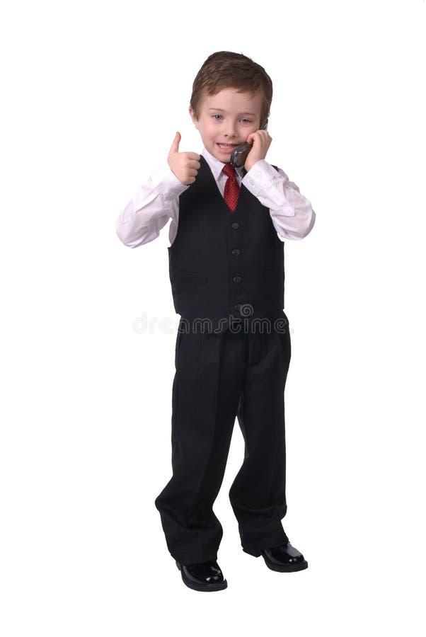 Boy on cell phone stock photos