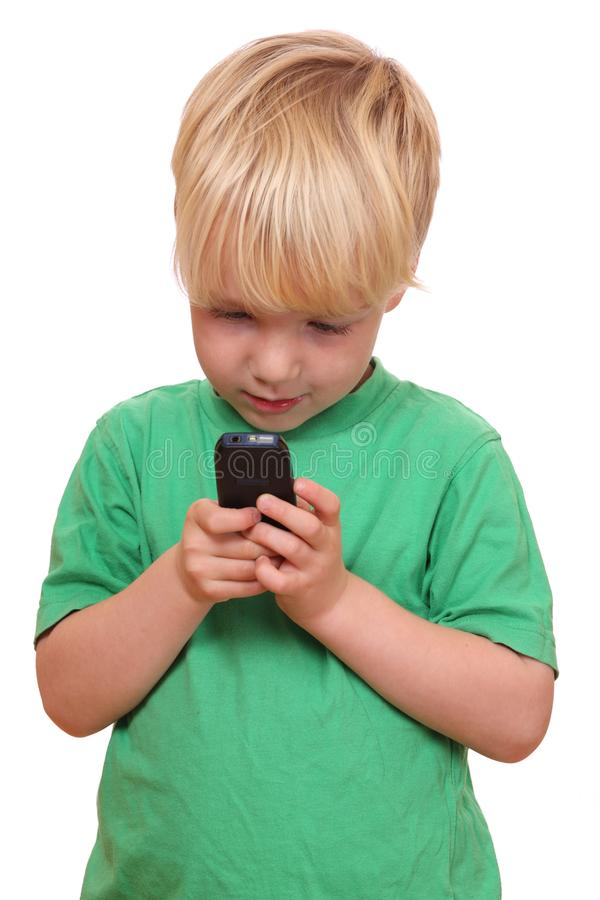 Download Boy with cell phone stock image. Image of person, isolated - 21693791