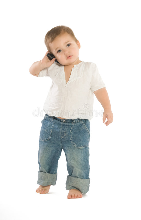 Download Boy With A Cellphone Royalty Free Stock Image - Image: 4719856