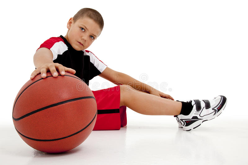 Boy Child Basketball Player Relaxing royalty free stock images
