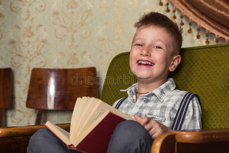 Boy Child Read Book, Children Education stock images