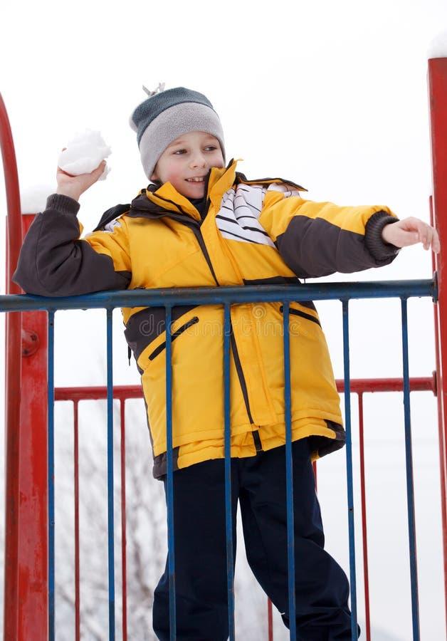 Download Boy On A Children's Playground Stock Photo - Image: 23218822