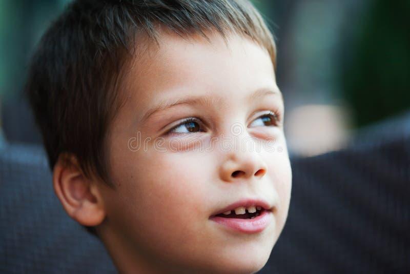 Boy closeup portrait