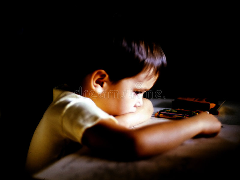 Boy Coloring stock image