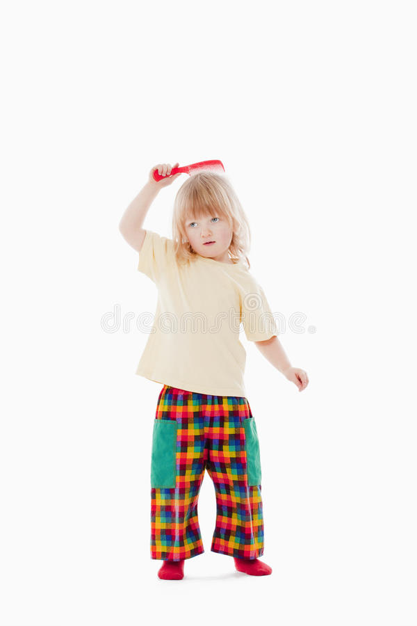 Download Boy with comb stock image. Image of white, comb, child - 12958515