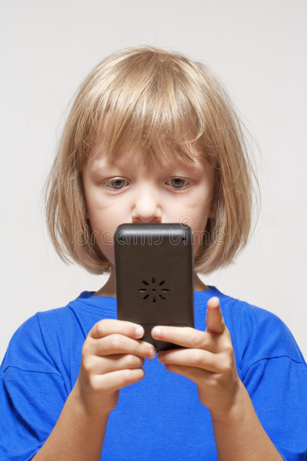 Download Boy with computer game stock image. Image of passion - 26489229