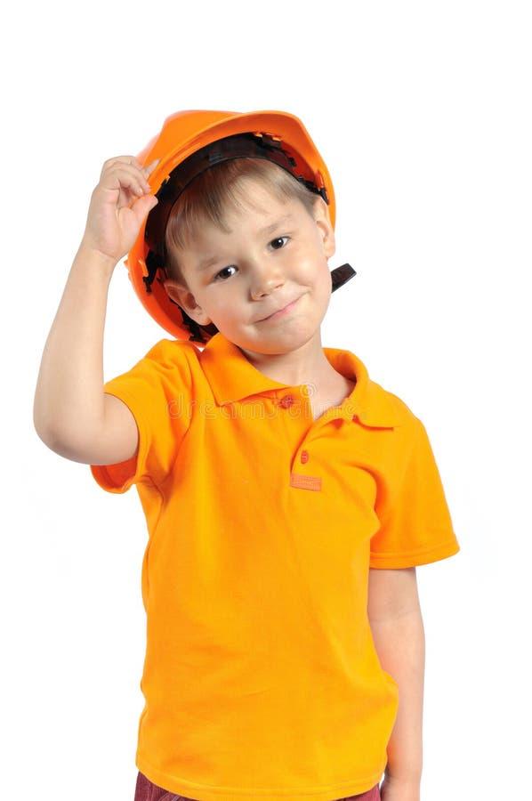 Download Boy in construction helmet stock image. Image of facial - 24668365