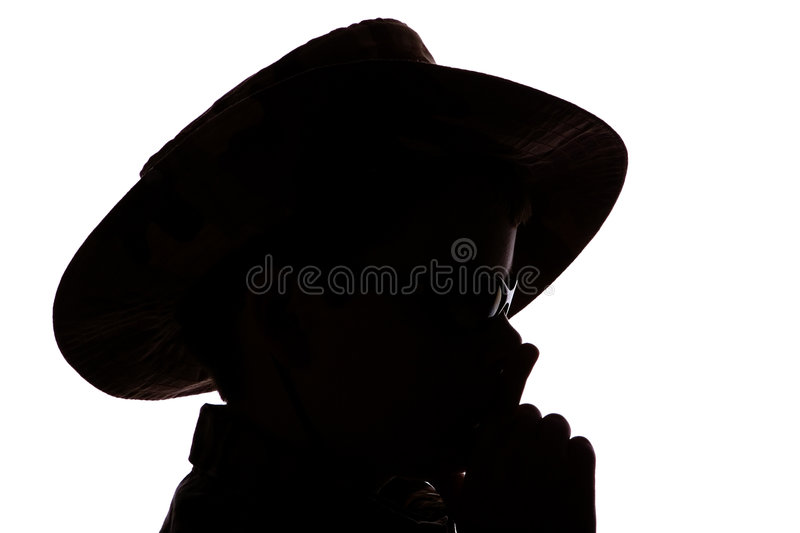 Download Boy in cowboy hat stock photo. Image of view, black, side - 938272