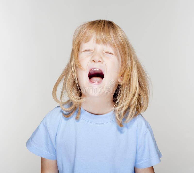 Boy crying stock image