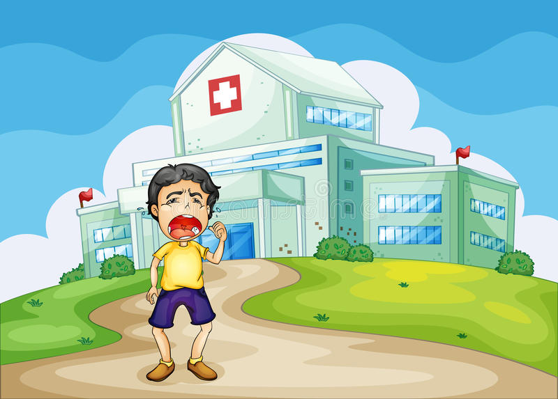 Download Boy crying outside stock illustration. Image of blue - 27179165