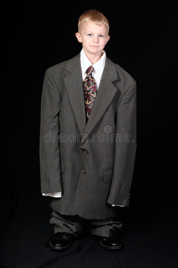 Boy in Dad s Business Suit