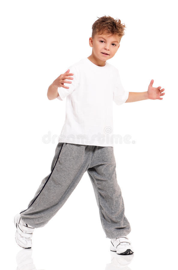 Download Boy dancing stock photo. Image of hop, arms, isolated - 29315918